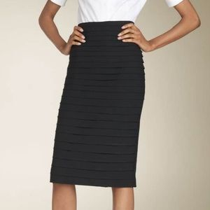 LAMB Bombshell Horizontal Pleated Pencil Skirt